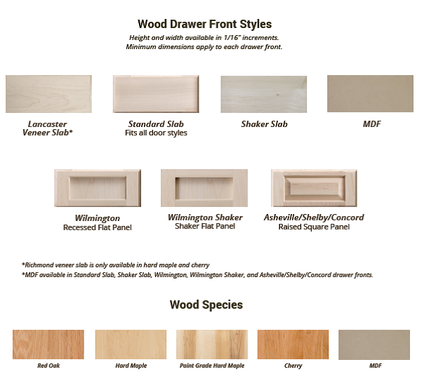 Best Custom Cabinet Drawer Front Styles Drawer Fronts 640 x 480