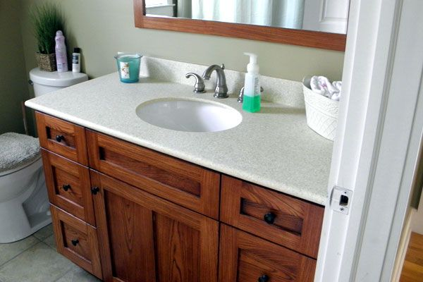 Mission Bathroom Cabinets | Quartersawn White Oak Mission Style End Table  Solid Walnut Vanity With .