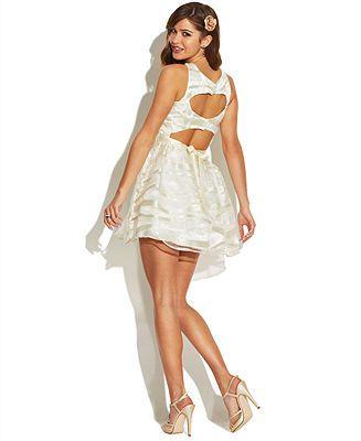 ff67e7a39a7ee City Studio Juniors' Glitter-Stripe A-Line Dress - Juniors Dresses - Macy's