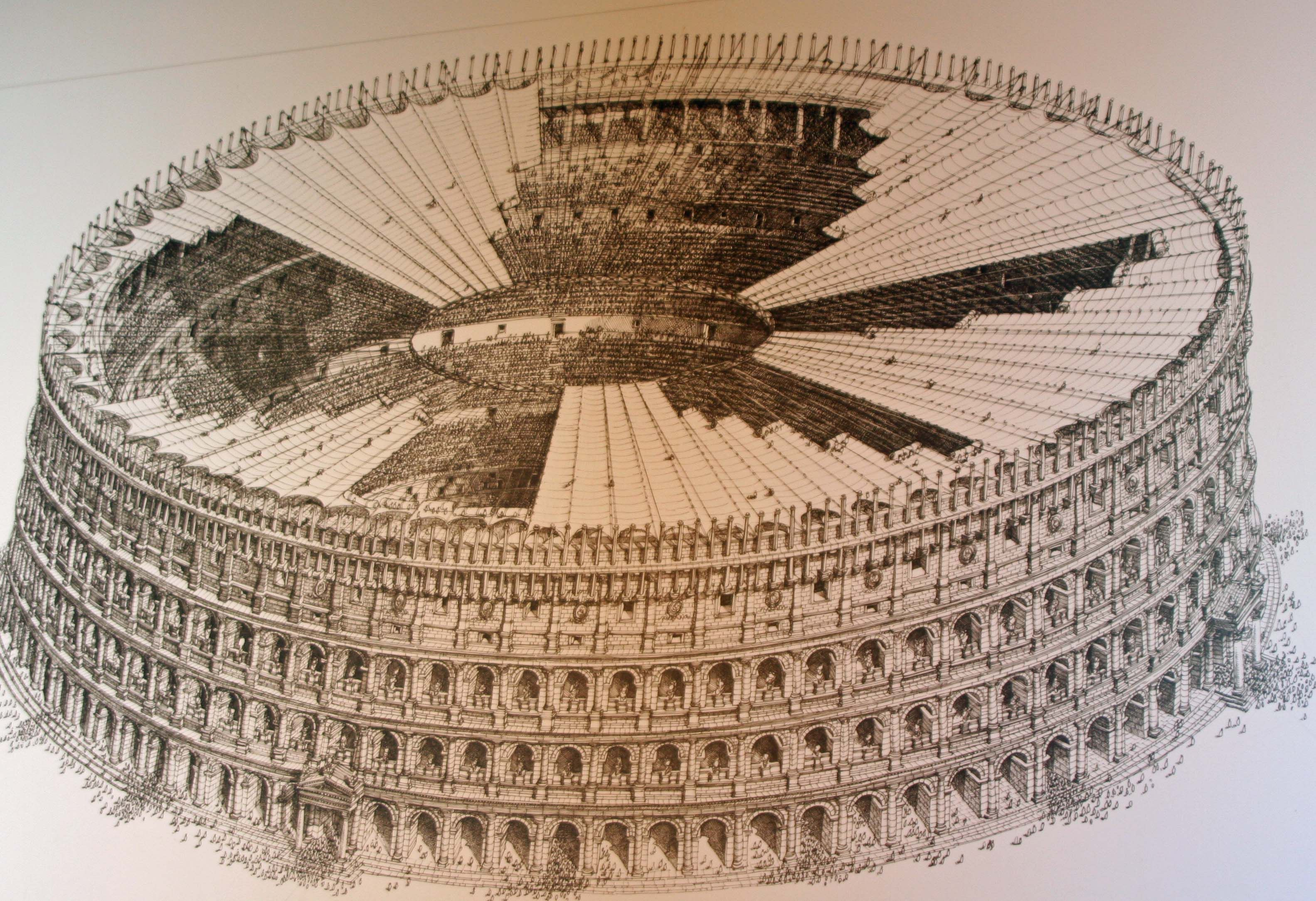 This Illustration Shows What The Colosseum Would Have