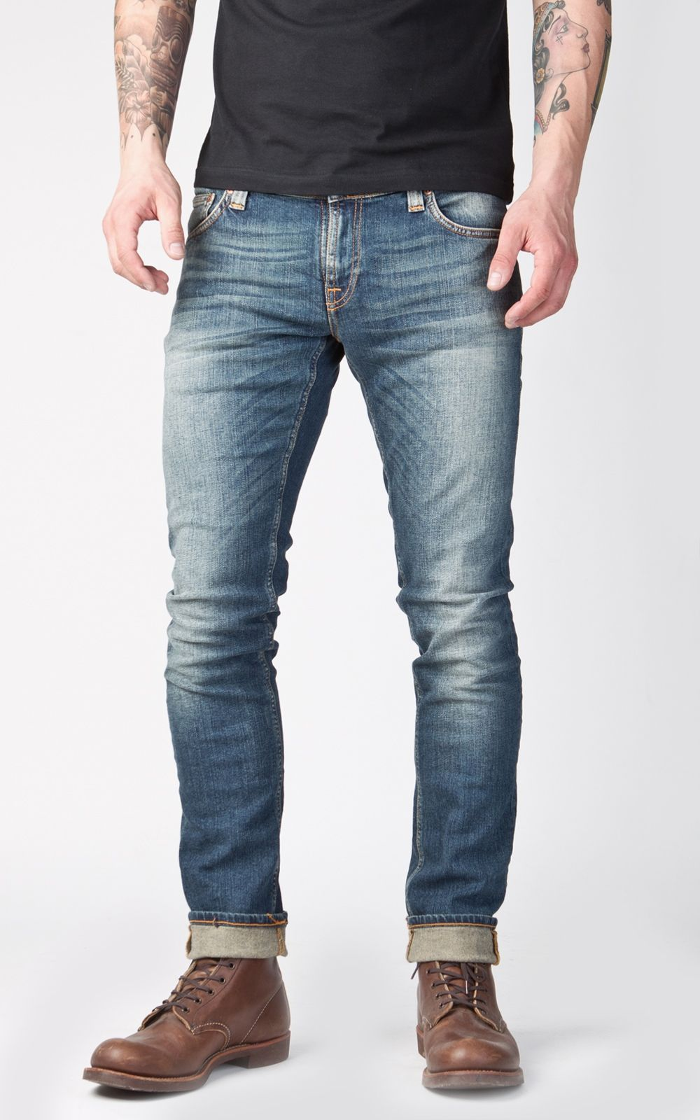 Nudie Jeans Tight Long John White Contrast | Dr. who, Nudie jeans ...