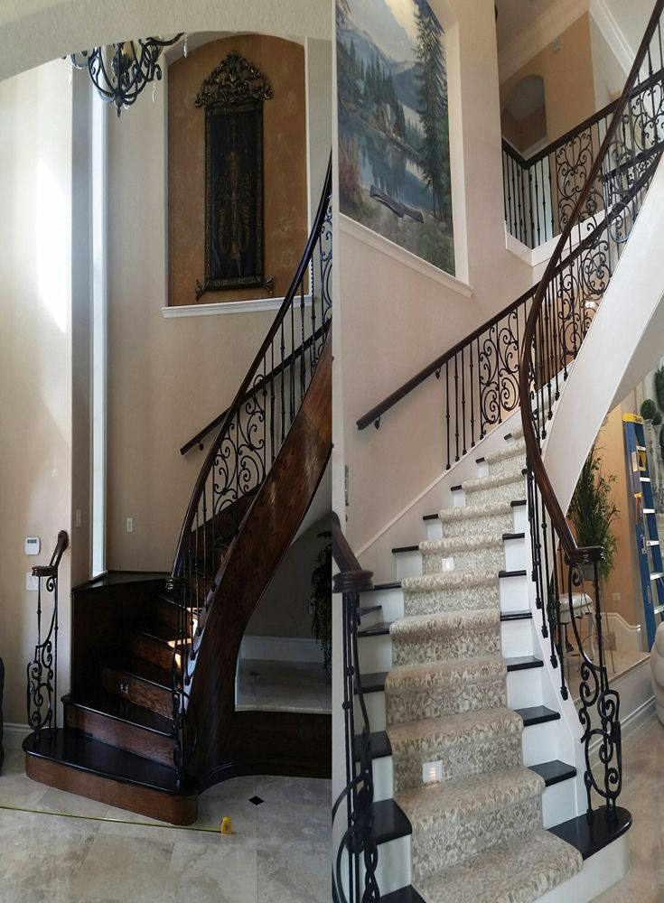 Best This Spiral Staircase Went From Formal Dark Tuscan To 400 x 300