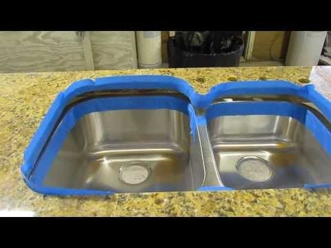 how to install an undermount sink to a