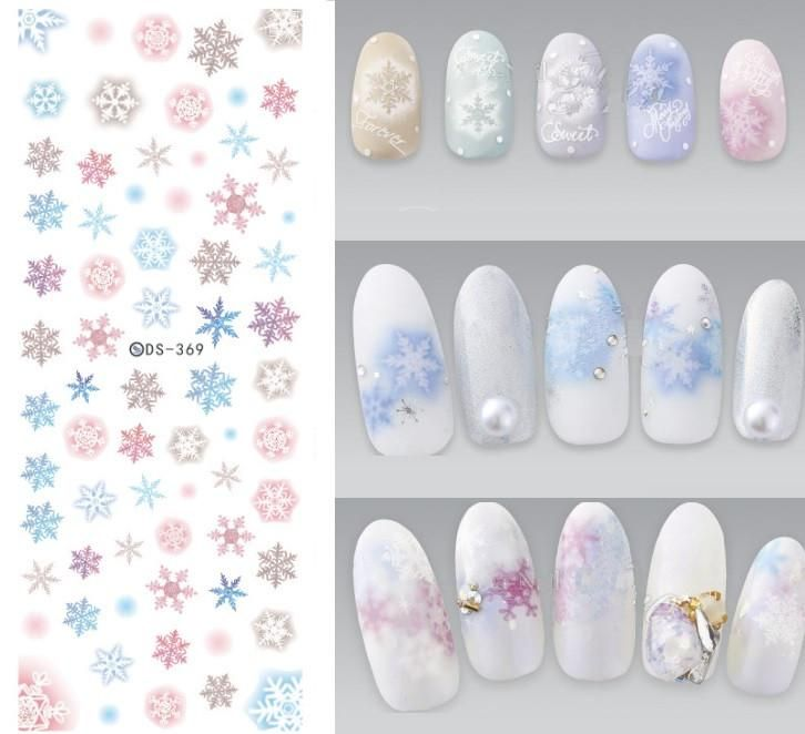 NEW DS369 Snowflakes Snow Design Water Transfer Nails Art Sticker ...