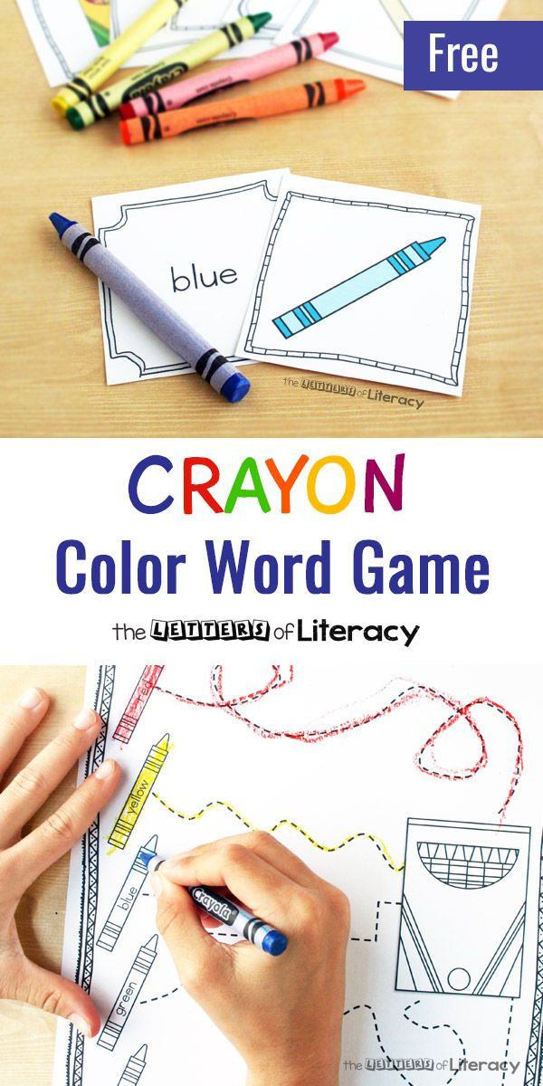 The Day The Crayons Came Home Color Word Game Preschool Sight