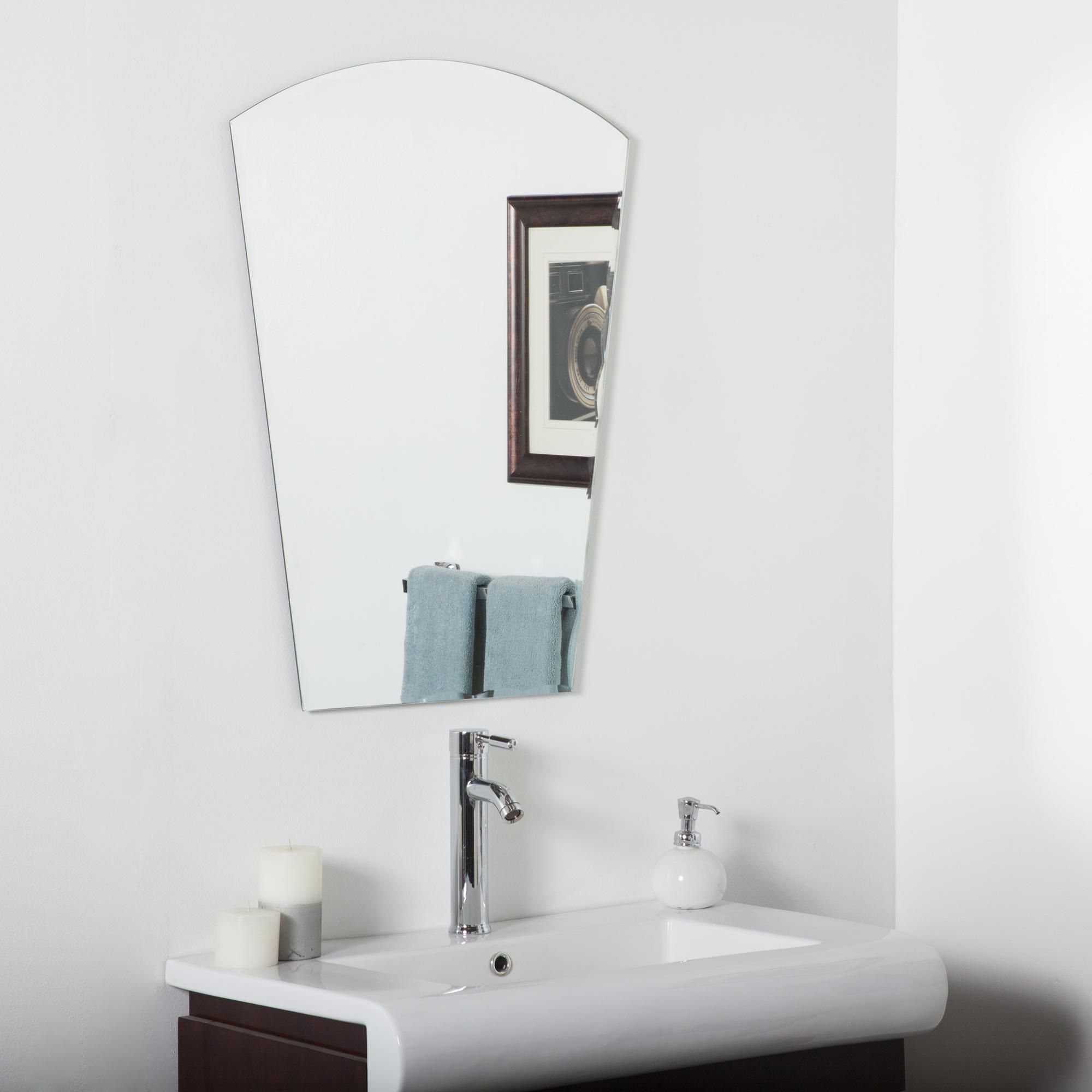 Mirrors Paris 23 1 2 X 31 Arch Top Frameless Wall Mirror In 2020 Mirror Wall Bathroom Modern Bathroom Mirrors Mirror Wall Bedroom
