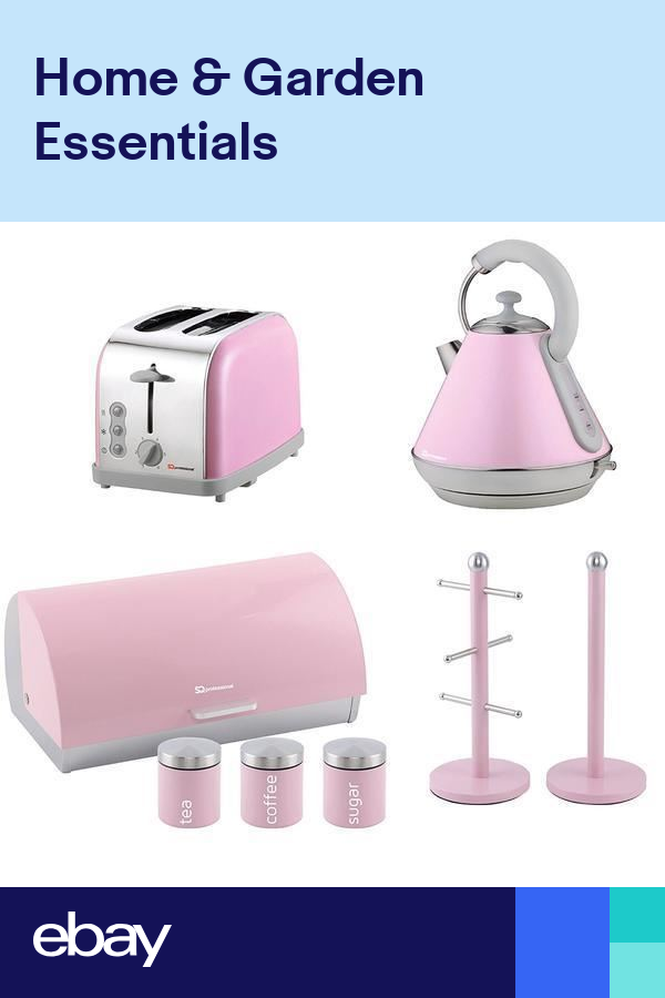 Matching Kitchen Set of Two items Electric Kettle,Bread Bin and Canisters in Or