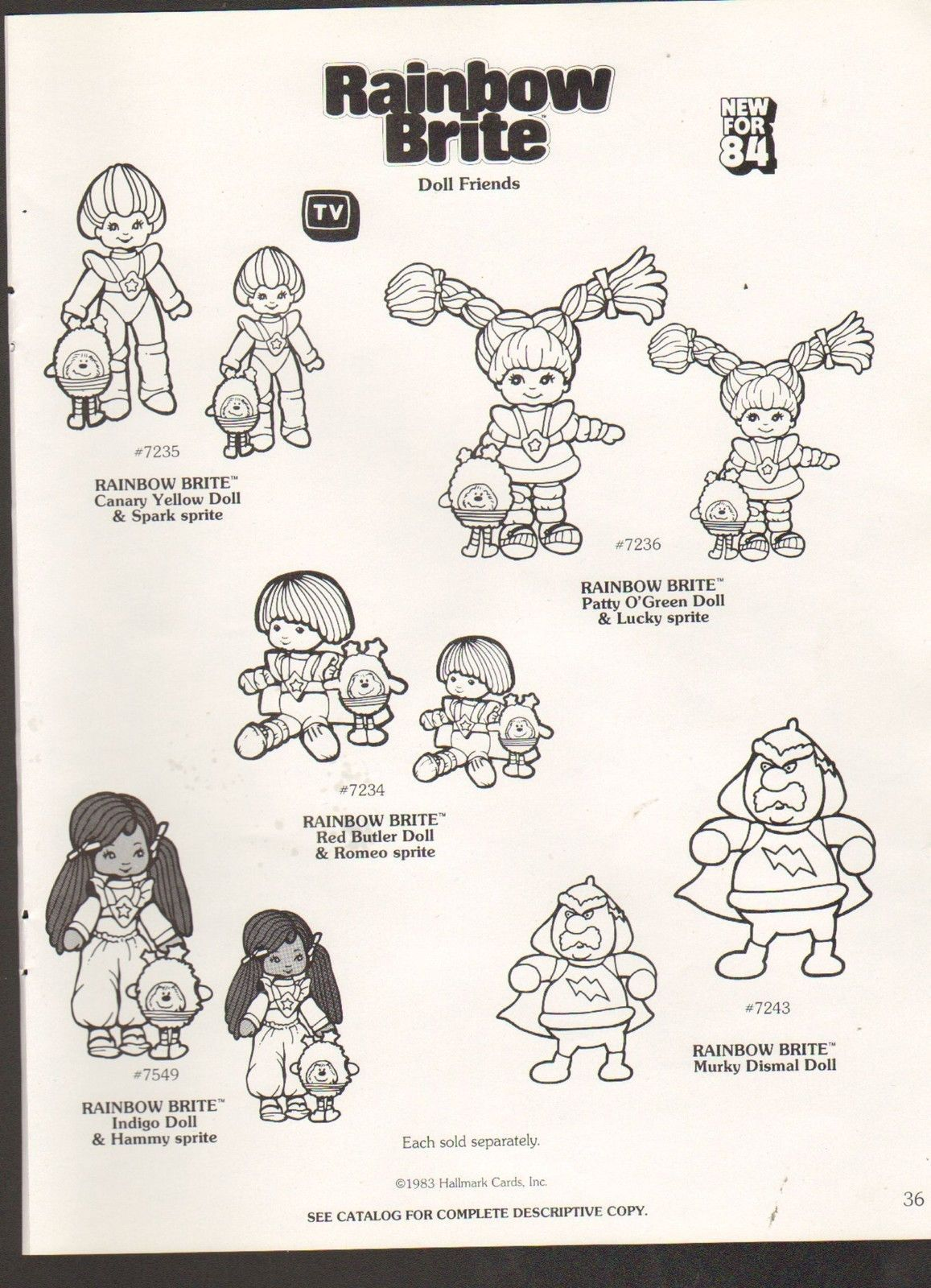 Vintage Toy Ad Sheet 690