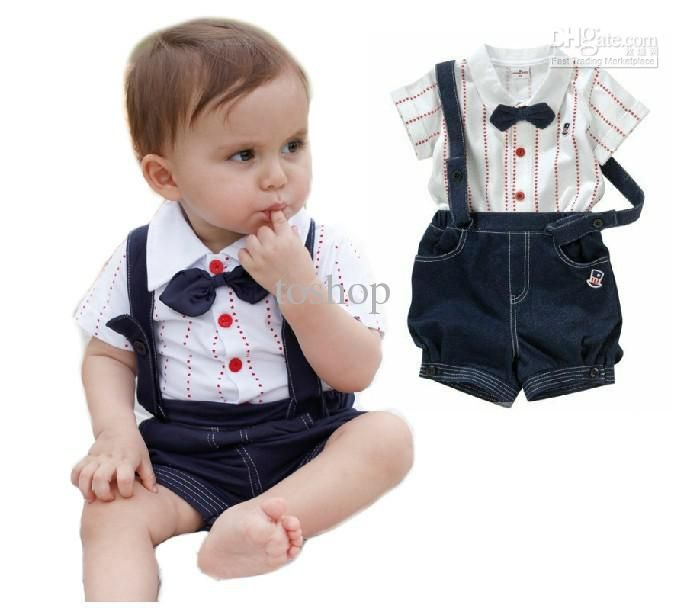 Toddler Kids Baby Clothes Boys Outfits Sets T-Shirt Trousers Vest Shirt Tie Tops