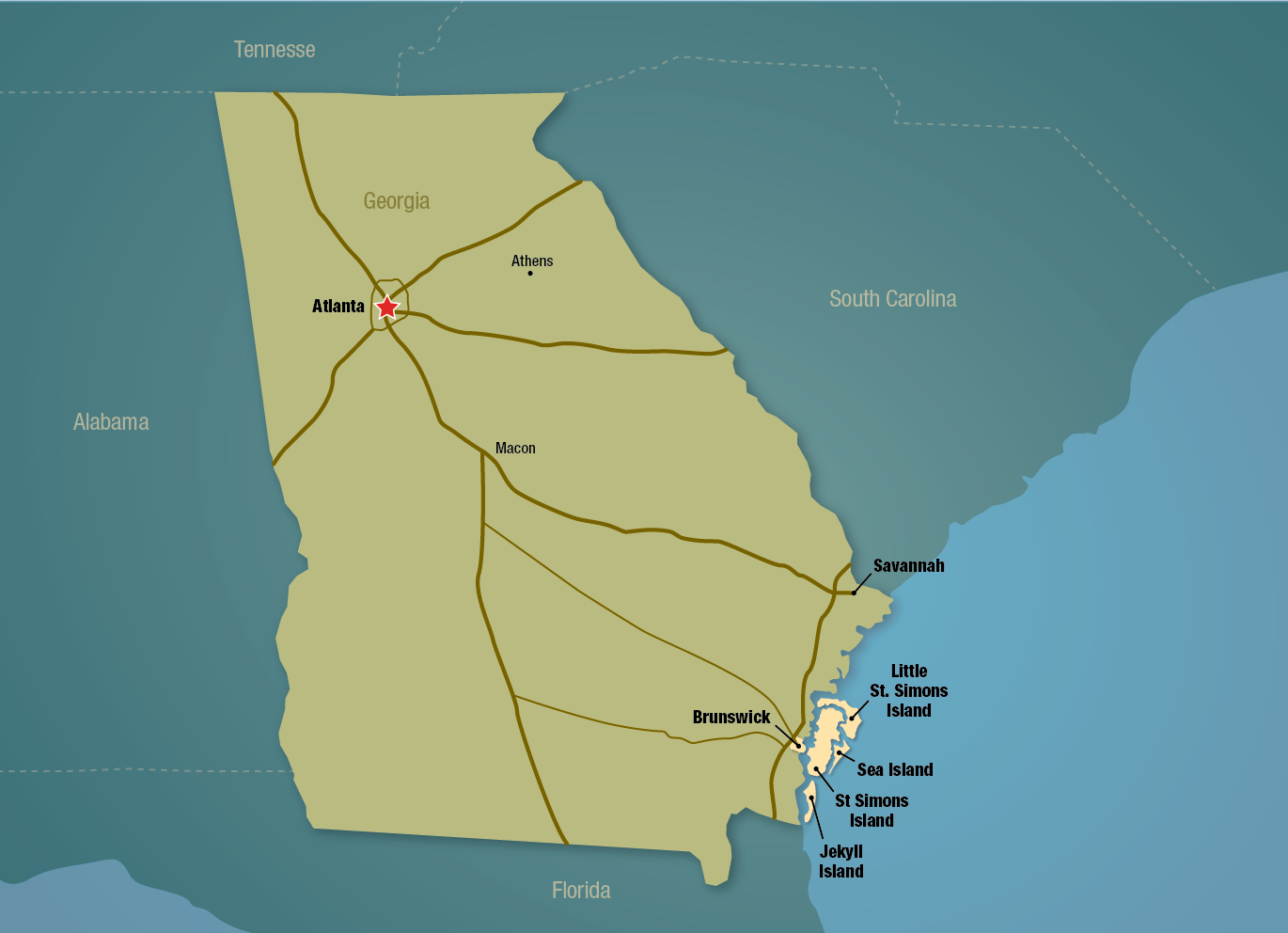 View maps of the Golden Isles. Find attractions and things to do