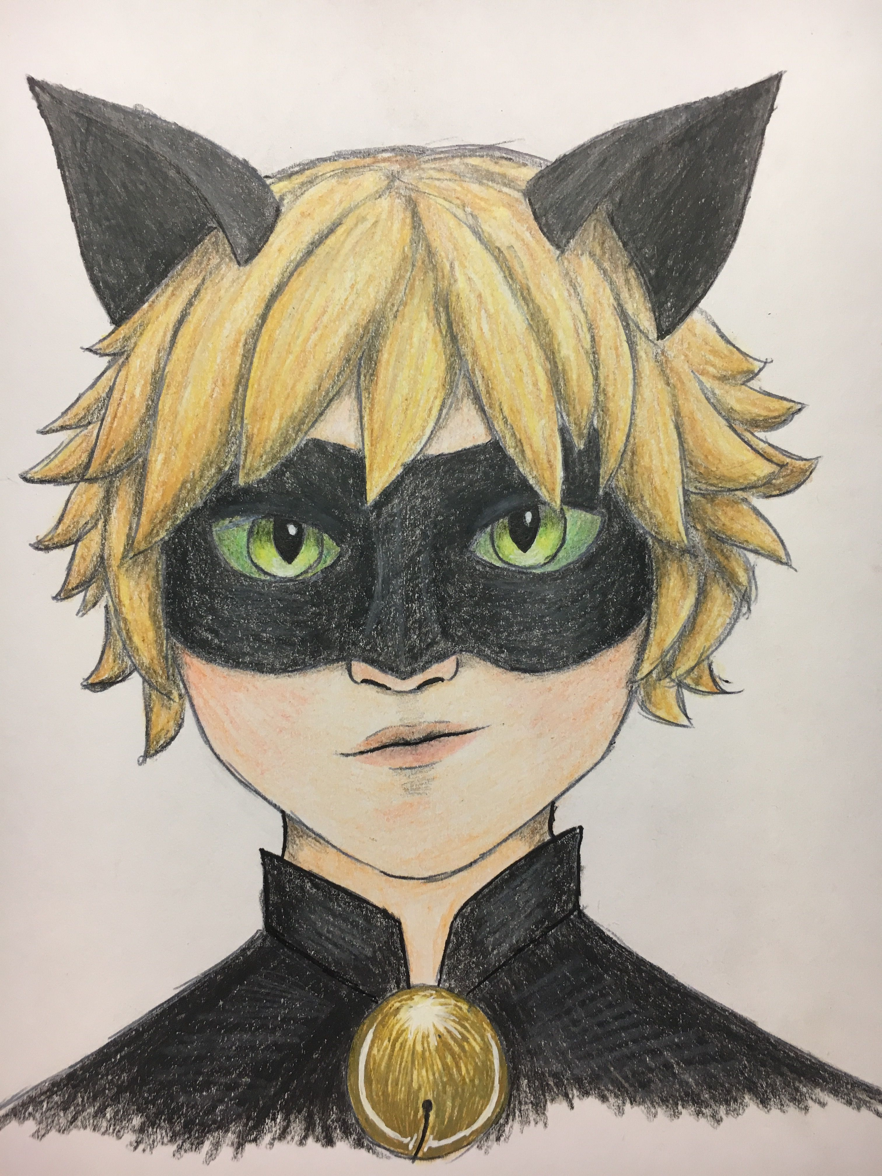 Chat Noir sketch | Art, My arts, Anime