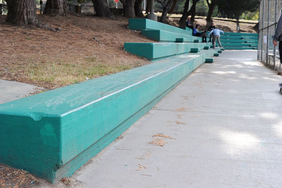 Next Up Is A Ledge Spot In South Central Skate Park Street Furniture Photo