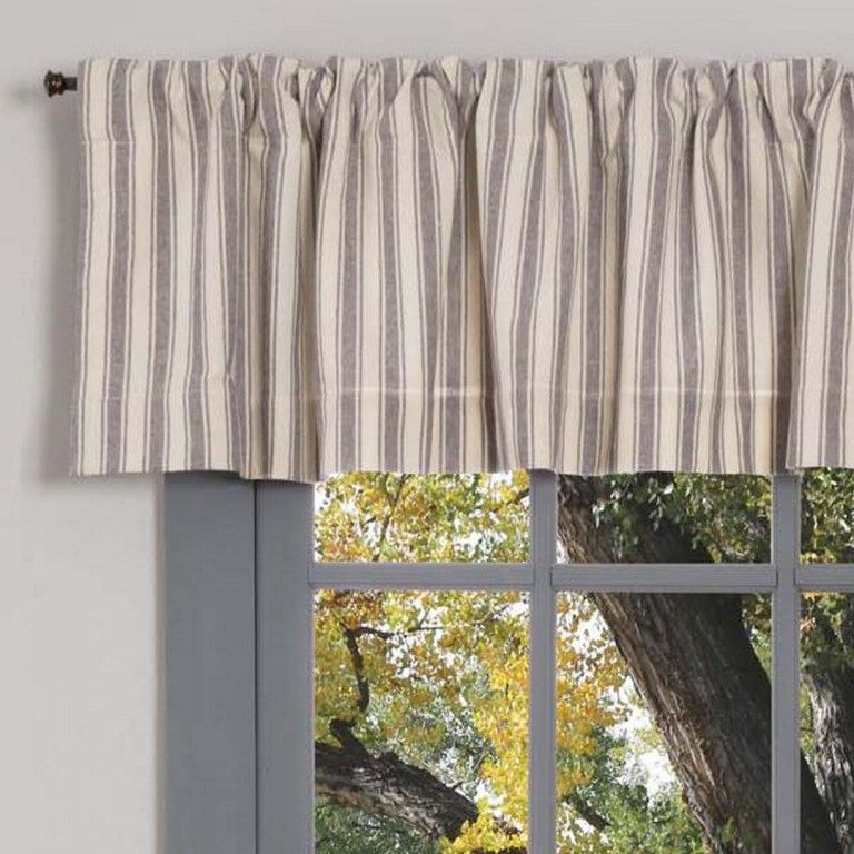 125 Gray Ticking Curtains In 2020 With Images Gray Curtains