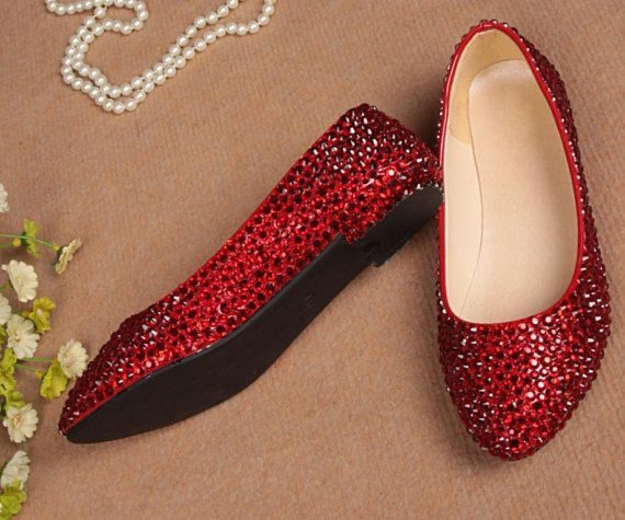Dorothy Ruby Slipper Flat Shoes For Me