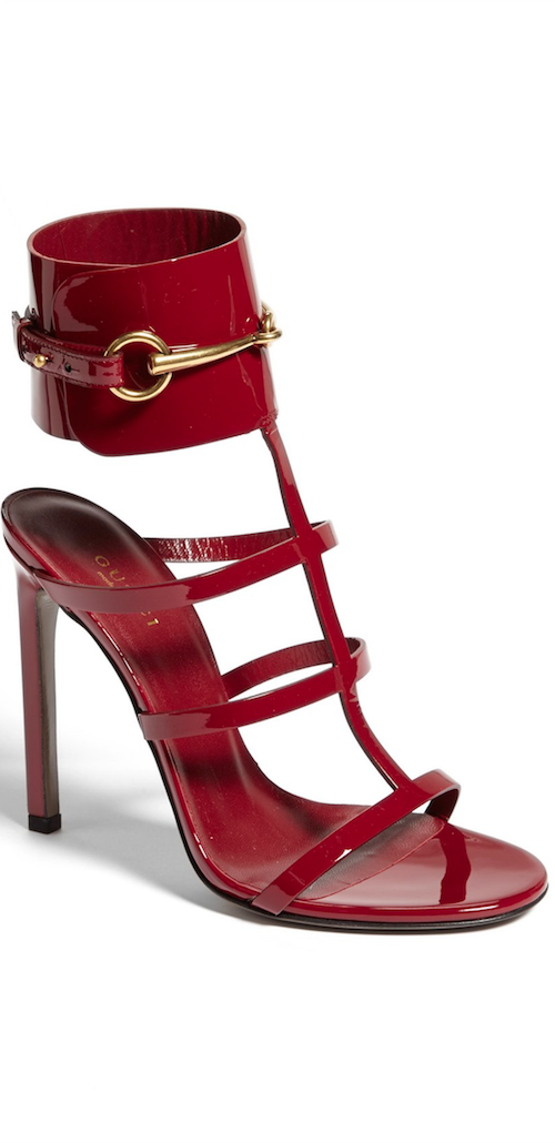 0171c88f9 Gucci 'Ursula' Patent Low-Heel Cage Sandal | HOUSE OF ACCESSORIES ...