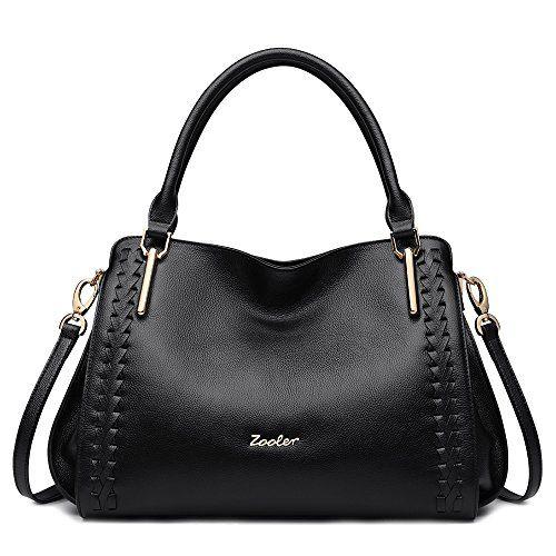763bd7de0 ZOOLER Genuine Leather Handbags for Women Top Handle Bags Crossbody Bag  Large Purse
