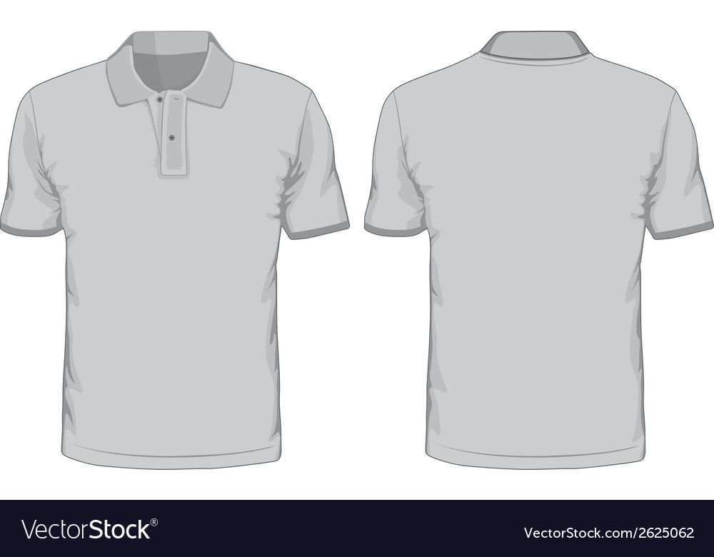 Download Mens Polo Shirts Template Front And Back Views Vector Image On Vectorstock Polo T Shirt Design Polo Shirt Design White Polo Shirt