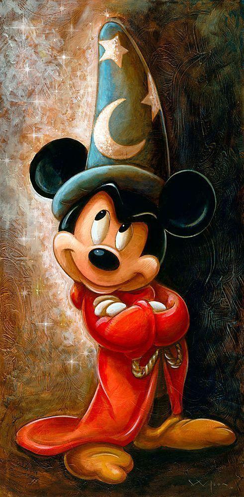 tinkeperi disney fine art sorcerer mickey mouse by darren