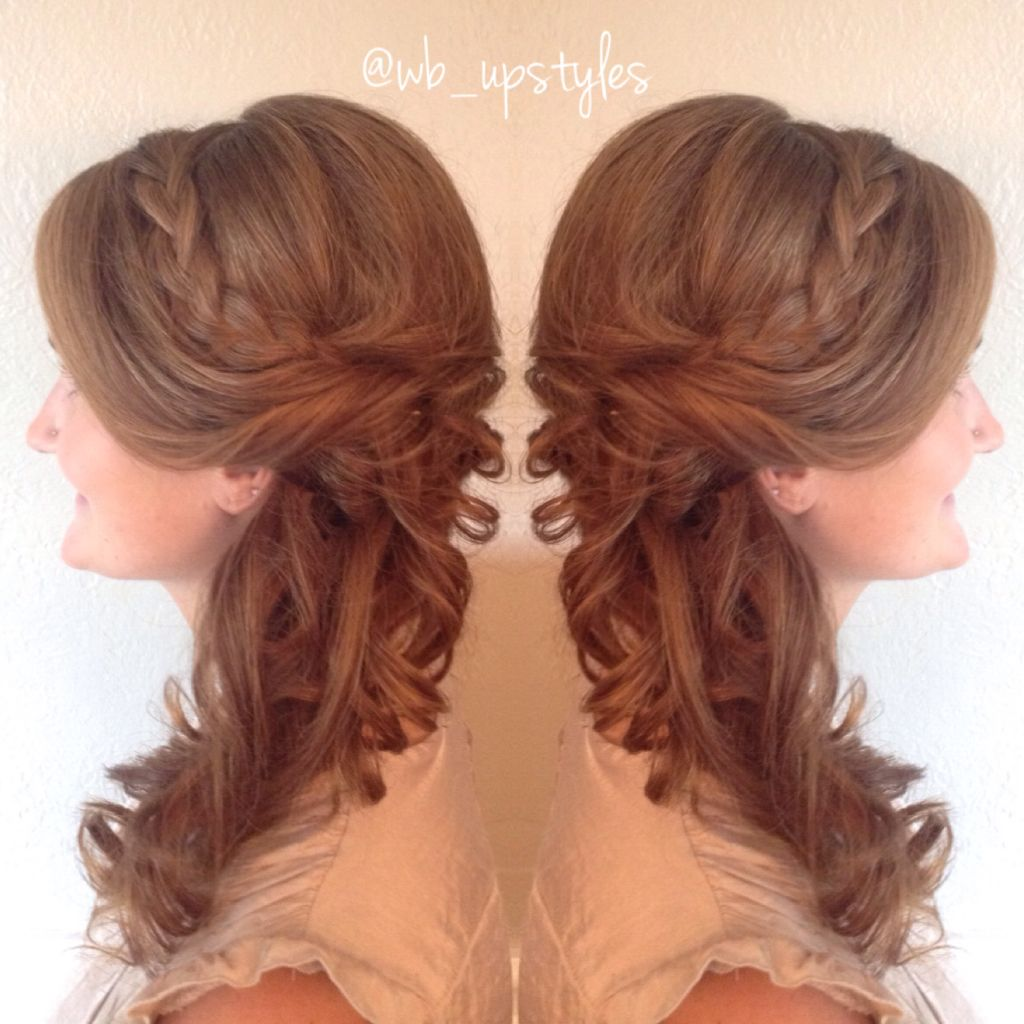 Pushed To The One Sided Updo Bridesmaid Hair Ideas Braided Updo