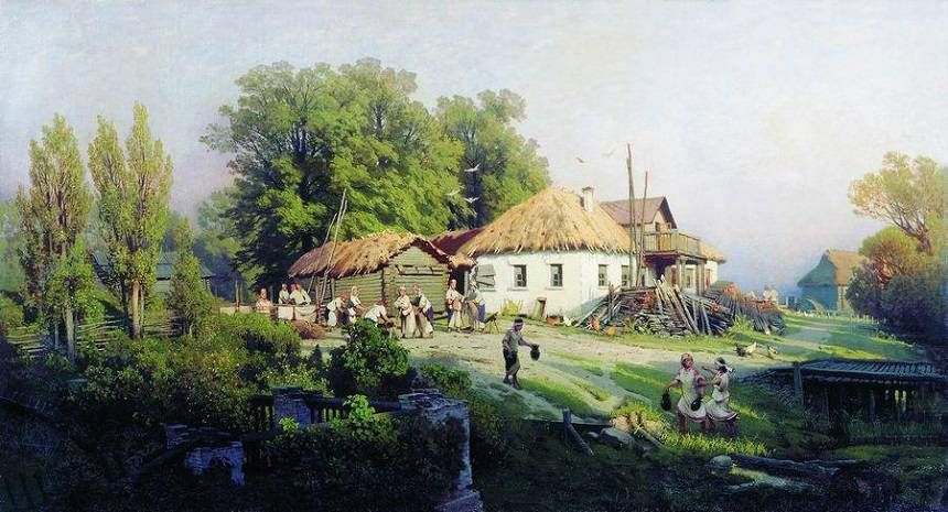 Русская глубинка деревня картинки