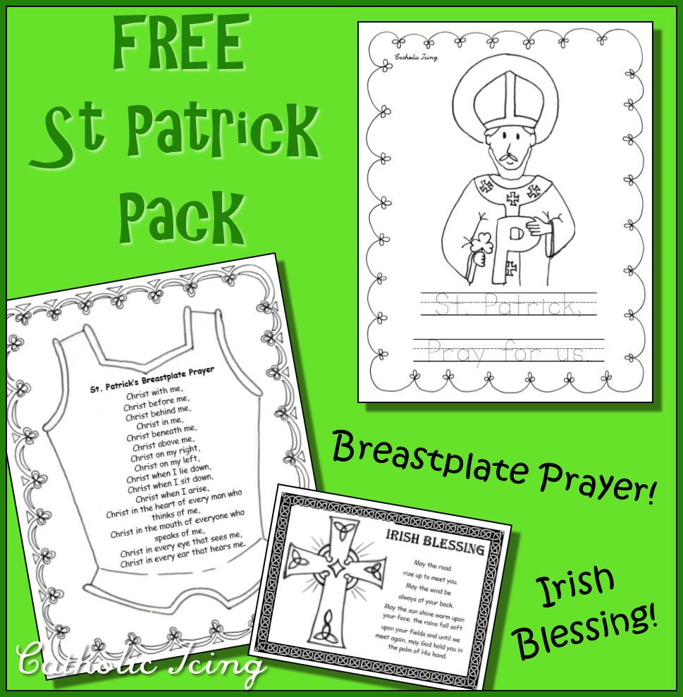 Free St Patrick Preschool Pack For Catholic Kids Coloring And Prayers Catholic Kids St Patricks Day Crafts For Kids St Patrick Day Activities