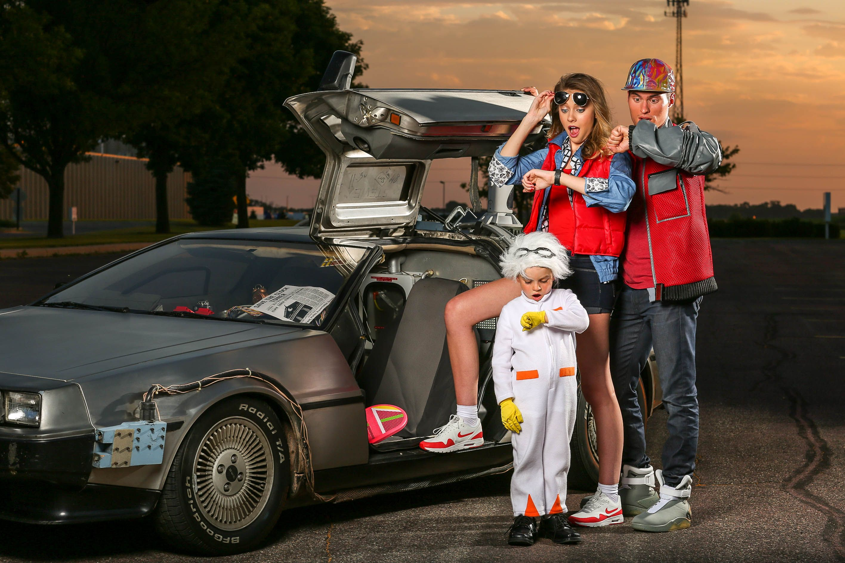Fun Group Family Halloween Costumes Travel Back In Time With Our Many Back To The Future Costumes For Adul Family Halloween Costumes Family Halloween Costumes