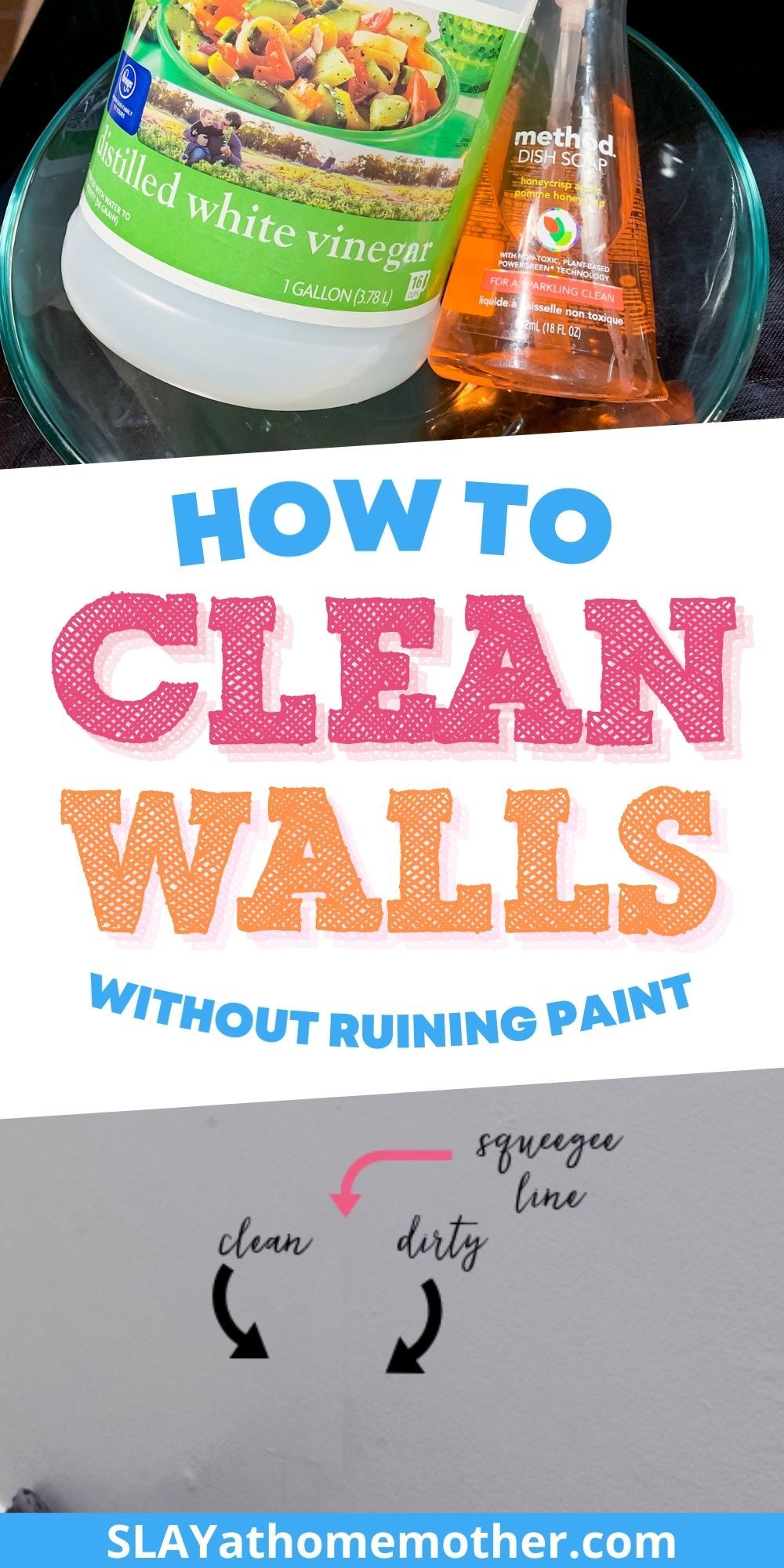 How To Clean Walls Without Removing Or Discoloring Paint Cleaning Walls Cleaning Solution Recipe Cleaning