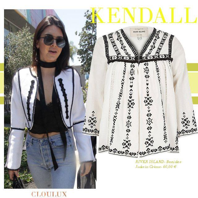 Kendall Jenner weiß eben was Trend ist: Boho und Folklore Teile sind ein absolutes Must diese Saison! Hier trägt sie eine weiße Jacke mit schöner Stickerei!