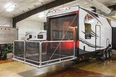 New 2014 35x14 Luxury Fifth Wheel Toy Hauler Slide Out Camper 14 Ft Garage Cargo New Aluminum Frame Tri Fifth Wheel Toy Haulers Luxury Fifth Wheel Toy Hauler