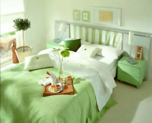 Small Master Bedroom Colors Design Ideas: Beautiful Light Green ...