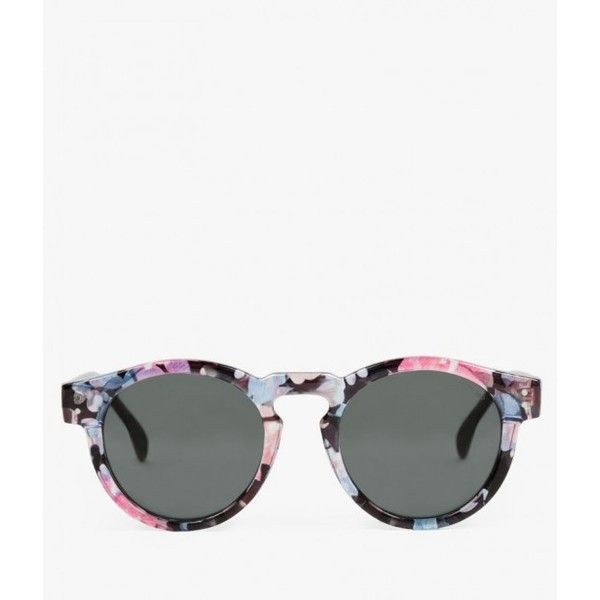 Komono The Clement Sunglasses ($69) ❤ liked on Polyvore featuring accessories, eyewear, sunglasses, floral, gradient lens sunglasses, floral sunglasses, colorful glasses, komono sunglasses and floral glasses