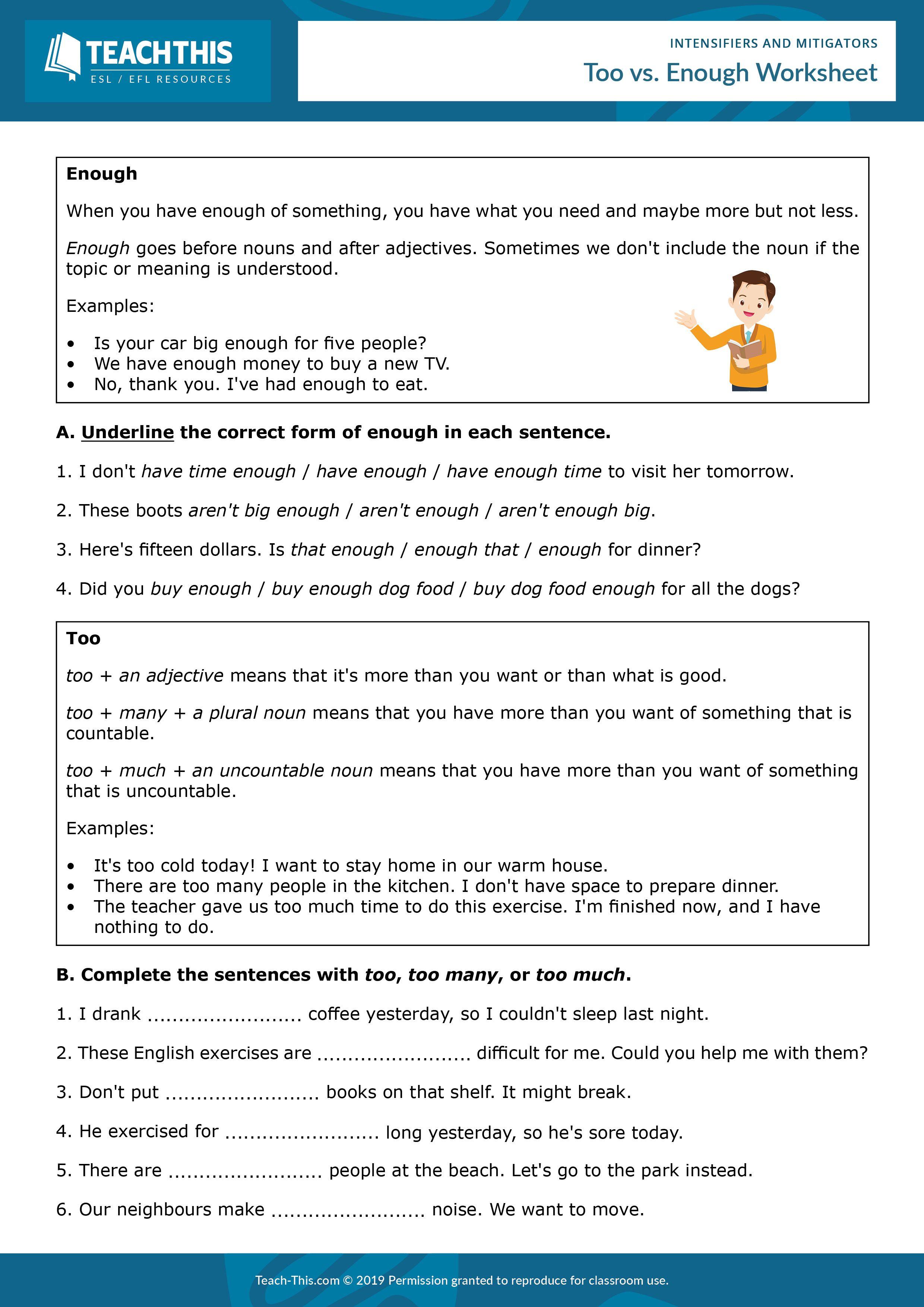 Intensifiers And Mitigators Esl Writing Activities Reading Comprehension Kindergarten English Grammar Worksheets [ 3508 x 2480 Pixel ]