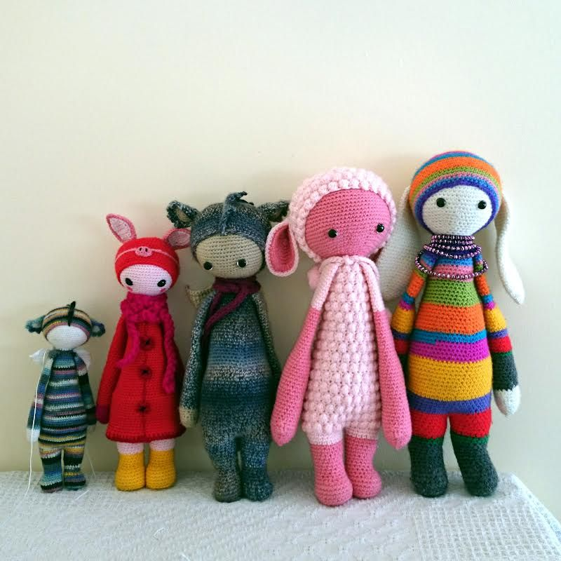 lalylala dolls made by Allison G. / crochet pattern by lalylala