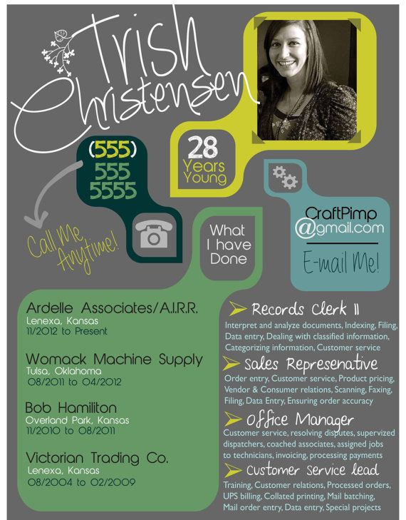 Color Blocks Creative Resume on Etsy, $2000 Shes the best!! I - creative resume ideas