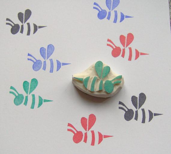 Honig Biene-Stempel, Stempel Biene, Insekten Stempel, handgemachte Biene Stempel, Kinder, Handwerk, Kinder Stempel, Scrapbooking, Cardmaking, Verpackung #stampmaking