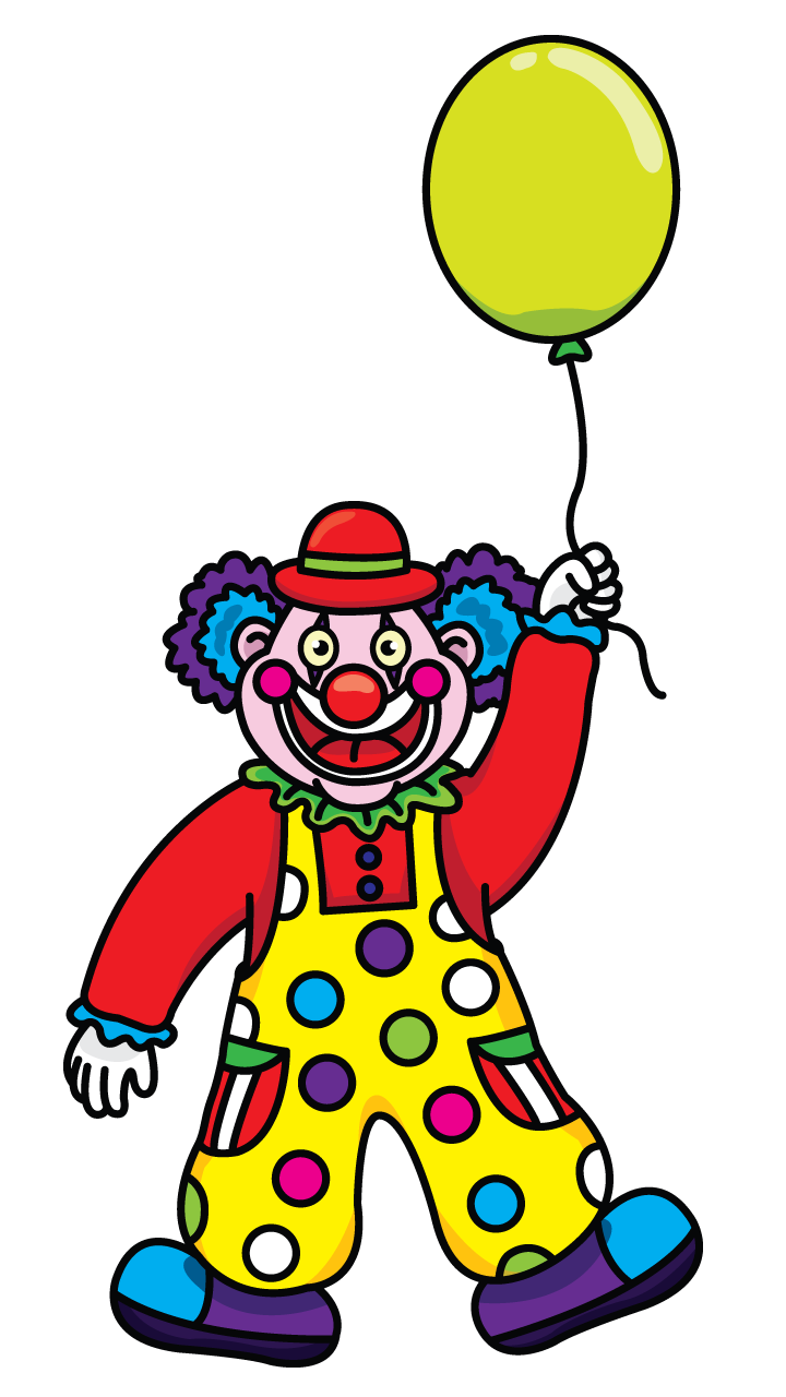Clown for the children drawing tutorial http://drawingmanuals.com ...