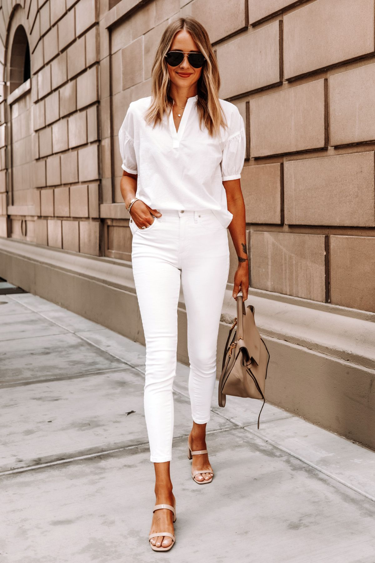 How to Create a White on White Summer Outfit | Fashion Jackson