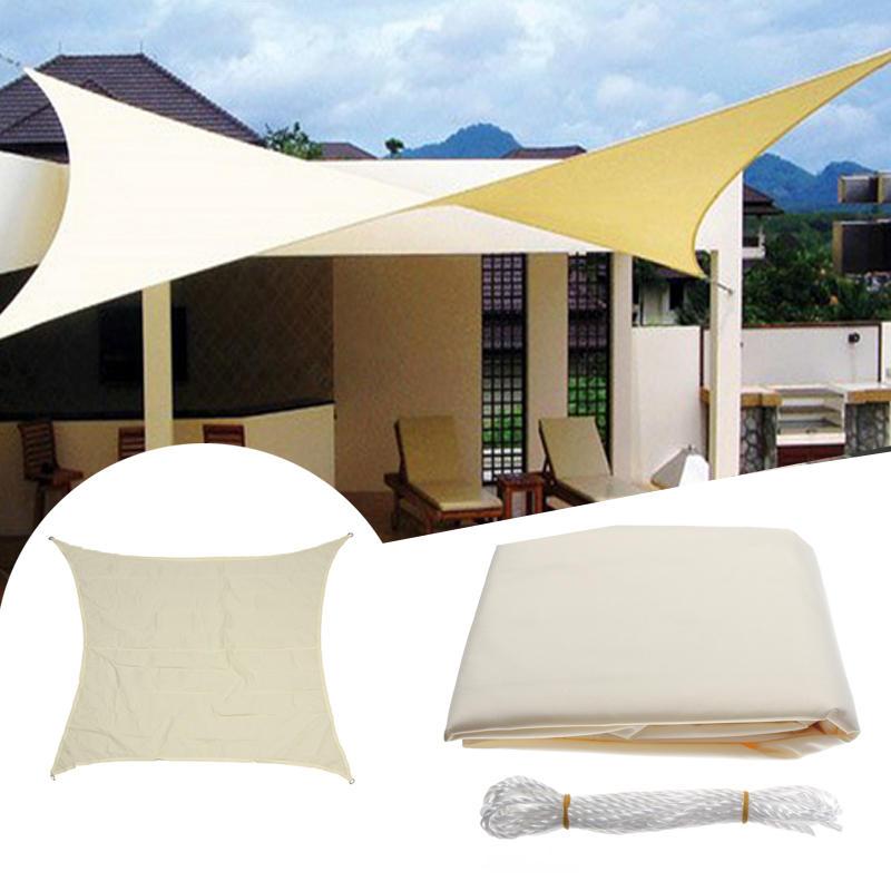 3 5x3 5m Square Sun Shade Sail Canopy Patio Garden Awning Uv Block Top Shelter Beige Camping From Sports Outdoor On Banggood Com Shade Sail Sun Sail Shade Garden Awning