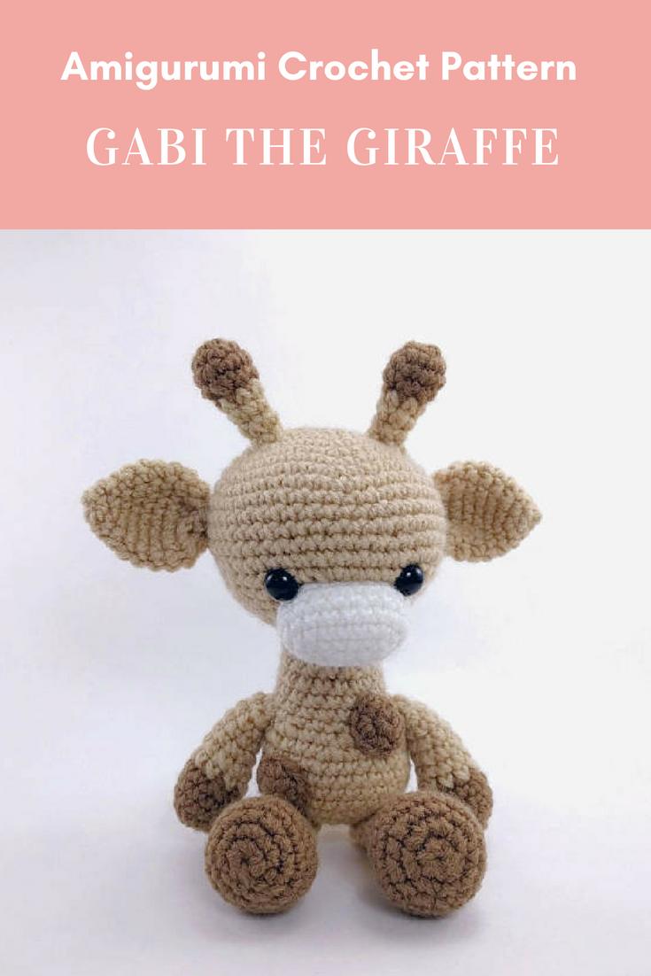 PATTERN: Gabi the Giraffe - Crochet giraffe pattern - amigurumi ...