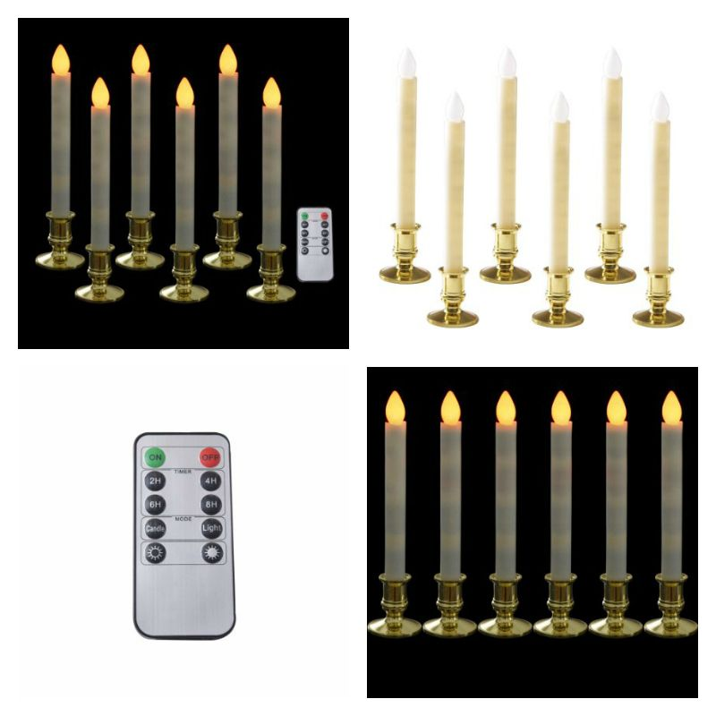 battery operated christmas candles for windows williamsburg battery operated christmas candles led window candles with 10button remote control taper light decoration golden removable candle holder 10