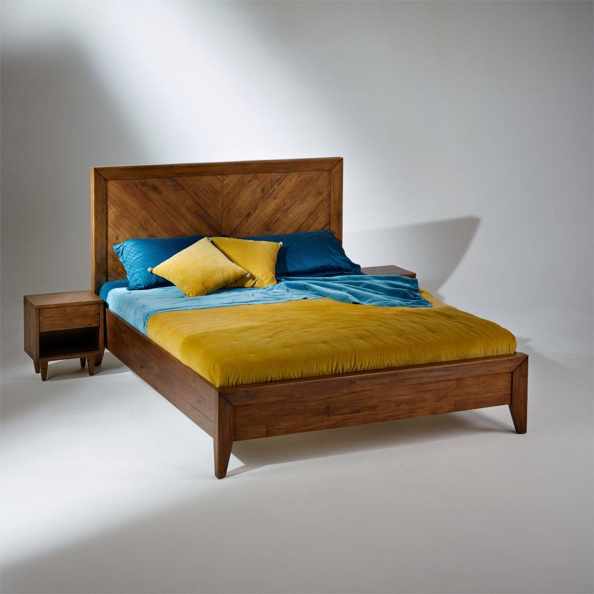 Lit Double Bradley En Bois Massif Sommier 160 X 200 Cm Home Deco Home Decor Bed