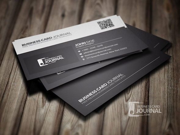 Black white qr code business card template namecard pinterest black white qr code business card template fbccfo Gallery