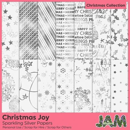 #Christmas Joy - #Sparkling Silver - http://luvly.co/items/4408/Christmas-Joy-Sparkling-Silver