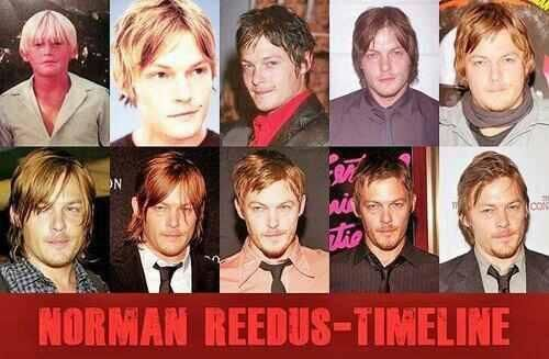 Norman Reedus over the years...Time has been very good to him!