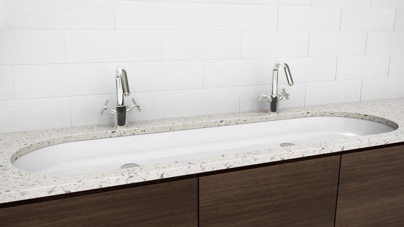 Undermount Double Sink Option Large Bathroom Sink Trough Sink