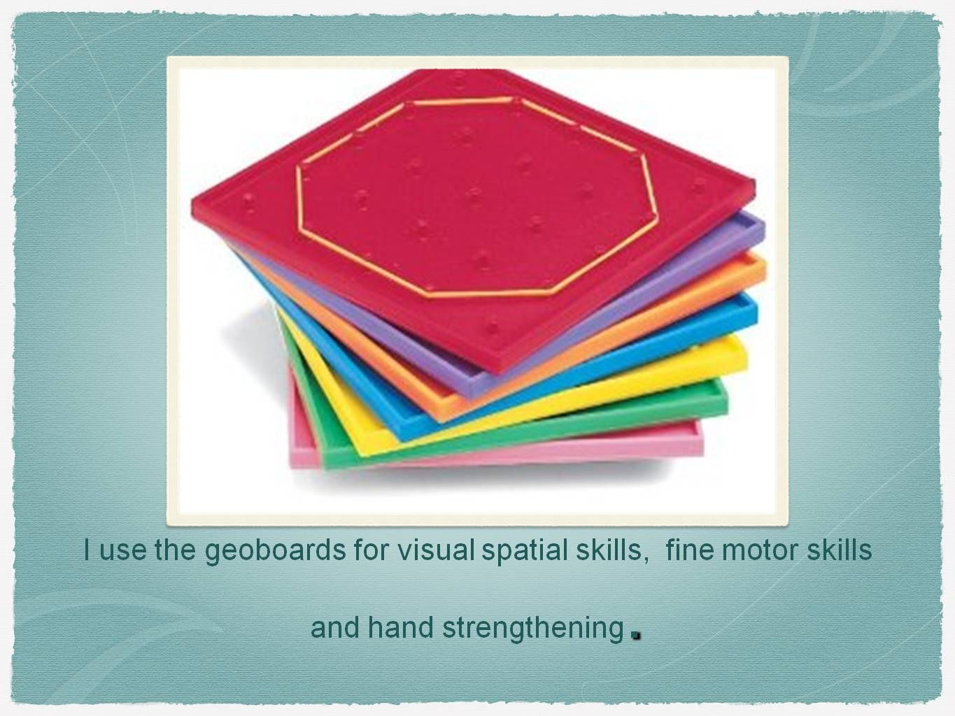 I Use These Geoboard To Develop Visual Spatial Skills And