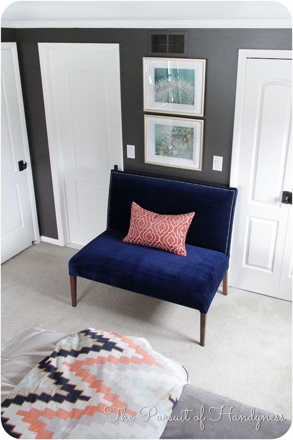 refinished furniture 3 part diy upholstered settee tutorial