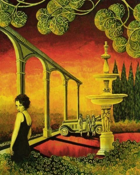 Mythological Goddess Art - Deco Dame - by Emily Balivet