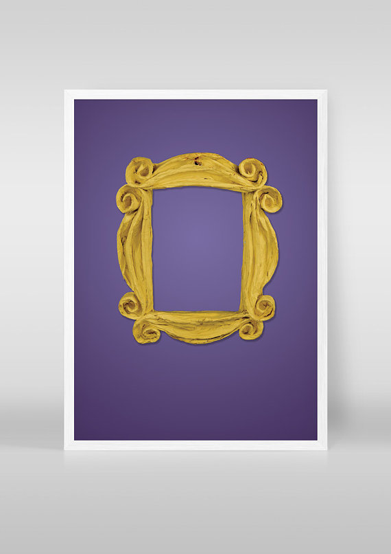 friends tv show minimalist poster not physical frame print yellow apartment door frame print friends tv show