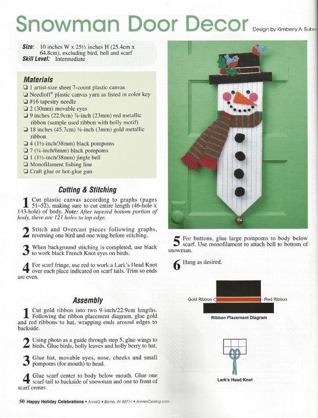 SNOWMAN DOOR DECOR by KIMBERLY A. SUBER 1/3